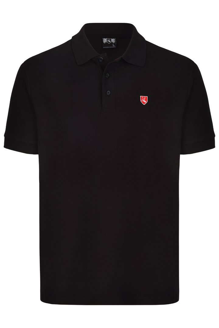"Polo-Shirt ""Buckler"" schwarz"