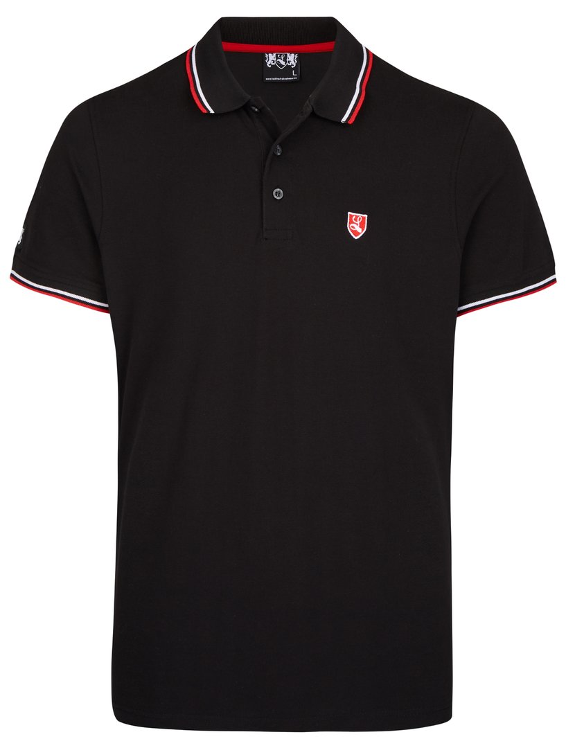 "Tipped Polo-Shirt ""Buckler"" schwarz"