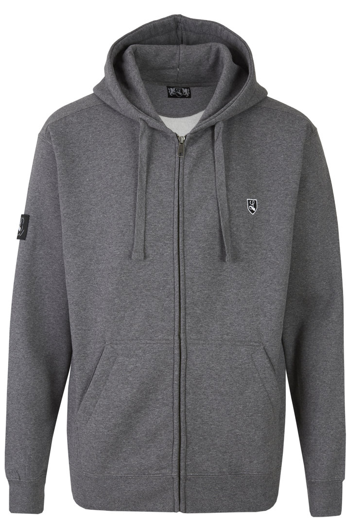 "Zipper ""Buckler"" grey marl"