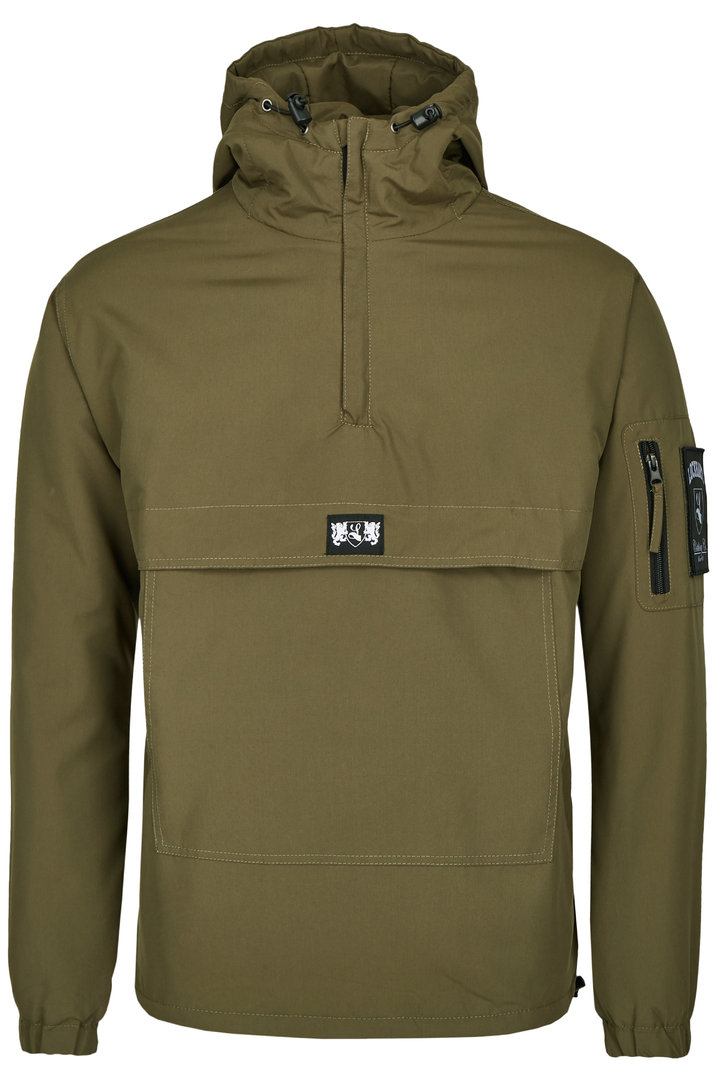 "Winter Overhead Anorak ""Blazon"" fleece gefüttert olive"