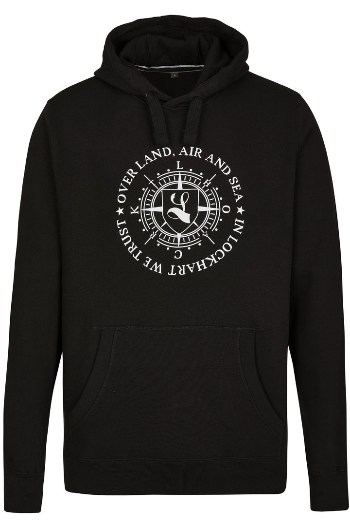 "Hoodie ""Over Land, Air and Sea"" schwarz"