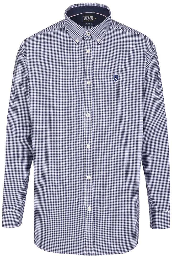 "Button Down Hemd ""Buckler"" navy / weiß"