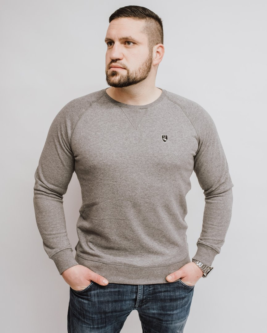 "Raglan French Terry Sweatshirt ""Buckler"" grey marl"