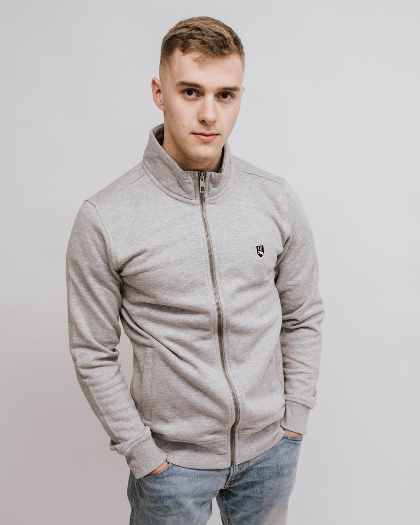 "Full Zip Sweatjacket ""Buckler"" grey marl"