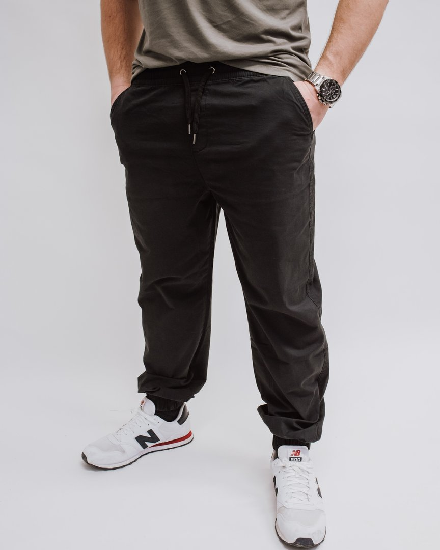 "Twill Chino Jogger ""Blazon"" washed black"